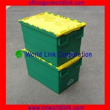 With MSDS Certificate 50kgs Stackable Hinged Storage Plastic Containers