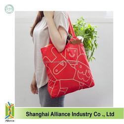 Solid Color Reusable bags Tide Twister Folding Tote Easy Fold Bag shopper