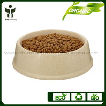 Sustainable develop bamboo fiber pet bowl made by China manufacturer