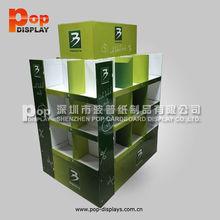 retail bottle shape pallet standing display rack