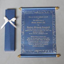 Popular tamanho rolagem casamento cartão do convite