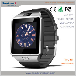 NFC Wifi Smart Bluetooth IOS Smart Watch GV18 with touch screen