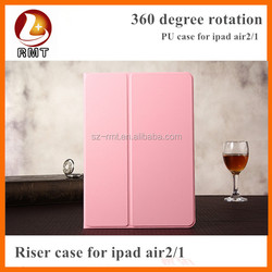 360 Degree rotation stand leather case For ipad Mini, case for iPad Air