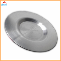 New Design Stamping Round Wire Drawing Stainless Steel Cup Mats with Logo Engraving Debossed Hotel/Bar Metal Coasters
