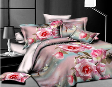 Hot sale girls Pink flower romantic famous brand name professional luxury baby cot bedding set