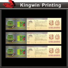 custom thermal air ticket printing NO.352