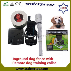 Rechargeable and waterproof cheap garden fencing & 300 meters remote dog trainig collar