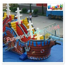 New design pirates ship Inflatable combo rubber boat for sale(com-537)