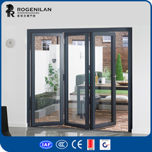 ROGENILAN pantry frosted glass entry doors hinges folding sliding doors