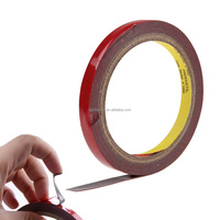 Best Price New Hot 3metres x 10mm Auto Truck Car Acrylic Foam Double Sided Stickers Attachment Adhesive Tape Red Tape 10mm Wide