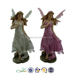 popular polyresin home deco fairy w. plastic wing