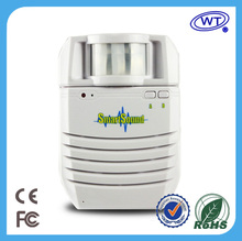 Portable wireless recordable voice speaker sound box activated by pir motion sensor/voice recorder playback player