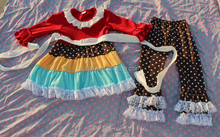 wholesale fashion korean children clothing newborn baby girl 2015 spring ruffle pants outfits girls boutique clothing