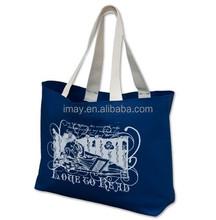 Cotton handles black 100% canvas tote bag shopping bag reusable shopping bags