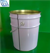 20L white chemical pail coating tin pail