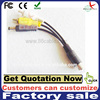 0.2meter 4pin mini din s-video male to 2rca+dc audio and video cable