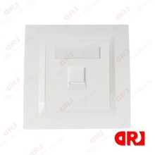 RJ45 86*86 rj45 decorative plates Single Faceplate With Shutter