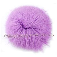 CX-D-63 2015 Fashion Wholesale Real Lamb Fur Backrest Floor Cushions