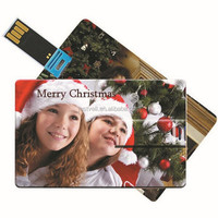 Christmas Card / Business Card / Postcard Ultra Slim Card Usb Flash Drive