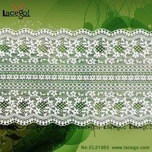 nuevo patrón de flores de encaje elástico de corte