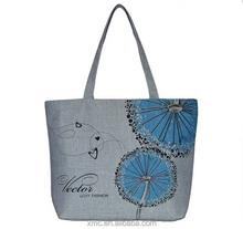 OEM Eco-friendly grey Cotton Canvas tote bag