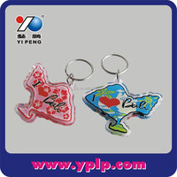 Paris Tourist Souvenir Fish Shaped Printed Acrylic Keychain
