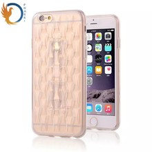Clear Cover Transparent Crystal Clear Mobile Phone Stand Cover for iPhone 6 Plus Cover