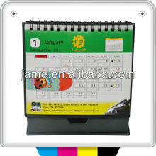 2013 Guangzhou Jame new design monthly wall calendar cheap printing on demand