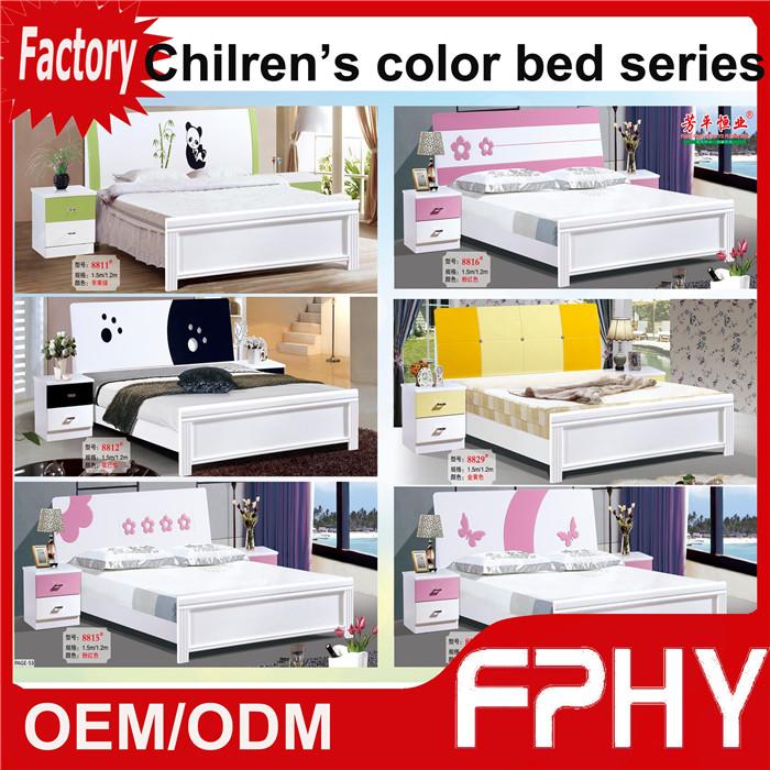 fphy children colorful mdf bed modern home bedroom furniture set