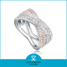 Latest Ring Design 925 Silver Ring Mirco Pave Stone Silver Ring
