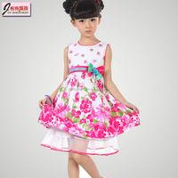 latest sleeveless printed flower girl dresses for 7 year olds