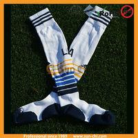 china manufacturer new 2015 custom plain polyester knitting 100% cotton soccer socks crew socks boy
