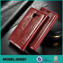 Red 2015 best selling pu cell phone case / leather mobile case