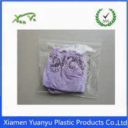 Hot sale!Accept customed zip lock plastic bags for garment