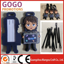 Nice PVC luggage tag wholesale/ hot sell fashion baggage tag,PVC luggage tag baggage tag, fancy soft pvc luggage tags