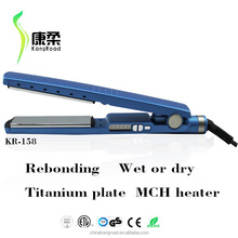 """HOT ! 1-1/4"""" Pro Titanium-Plated Wet or Dry Negative Ions Straightening Iron"""