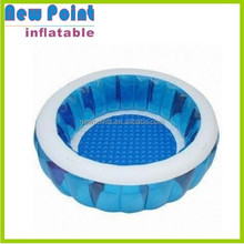 Bule circle PVC tramploine inflatable pool toy for family use