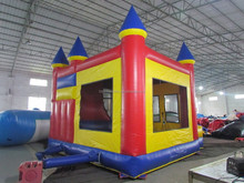Inflatable cartoon castle combo with bounce slide inflatable amusing park castle combo amusement park combo