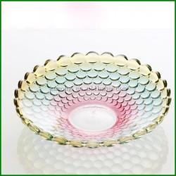 Wholesale Crystal High Quality Glass Fruit Plates & Crystal Salad Plate for Home Wedding Decor