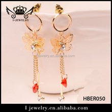 Wholesale price good quality round shape pandant chain earring