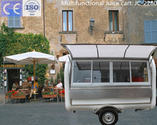 CE approved JC-2280 Professional and flexible design fast food cart with wheels and automatic thermostat