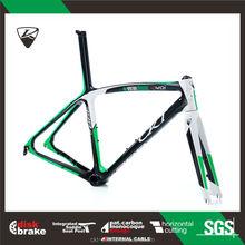 CKT 398D Black Green Taiwan Carbon Road Bike Frame