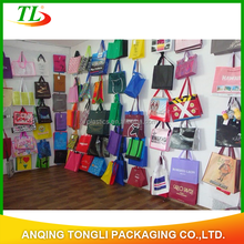 fashionable customized non woven shopping bag with hand handle