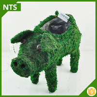 Handicraft Green Animal Shape Moss Baskets