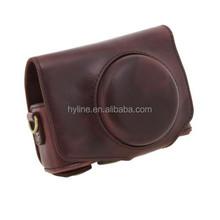 high quality PU Leather Camera Case Bag Cover for Powershot SX700 digital cameras with camera strap