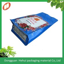 free sample custom printed block bottom bag/pouches for food packaging