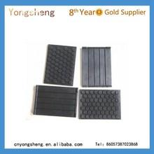 customized anti vibration waterproof thin flat heat resistant flat rubber pad with hole