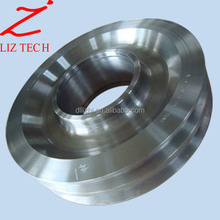 OEM Cast Steel Pulley Wheels with Bearing