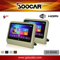 Karaoke Player Android 4.2 Car Headrest Monitors HDMI USB SD WiFi Capacitive Touchscreen