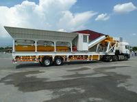 Automatic control mobile concrete batching plant,30m3/h machine Manufacturer